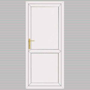 Flat Panel with Midrail uPVC Back Door
