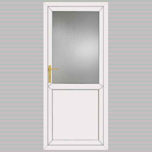 Half Glazed Flat Panel uPVC Back Door