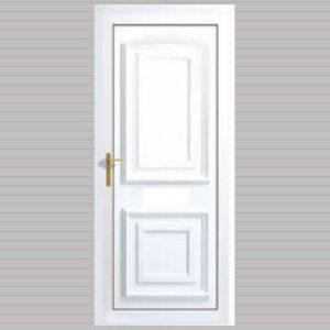 Bordeaux Solid uPVC Back Door