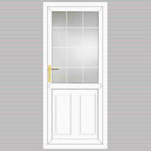 Half Glazed Edwardian Panel Georgian Bar Design uPVC Back Door