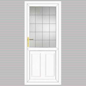 Half Glazed Edwardian Panel Square Lead Design uPVC Back Door