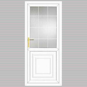 Half Glazed Victorian Panel Georgian Bar Design uPVC Back Door