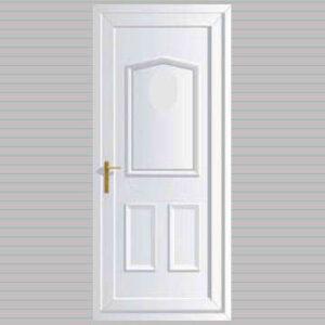 Jacobean Solid uPVC Back Door