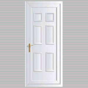 Edwardian Solid uPVC Back Door