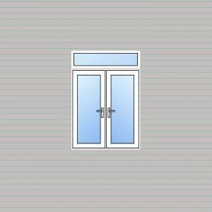 uPVC French Door Fanlight